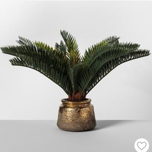 NWT Set of Two Artificial Potted Tropical Palms